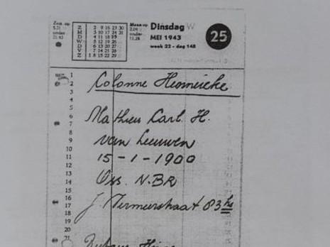 אחד המסמכים שמסכמים לכידה והסגרת יהודים בידי משת''פים הולנדים